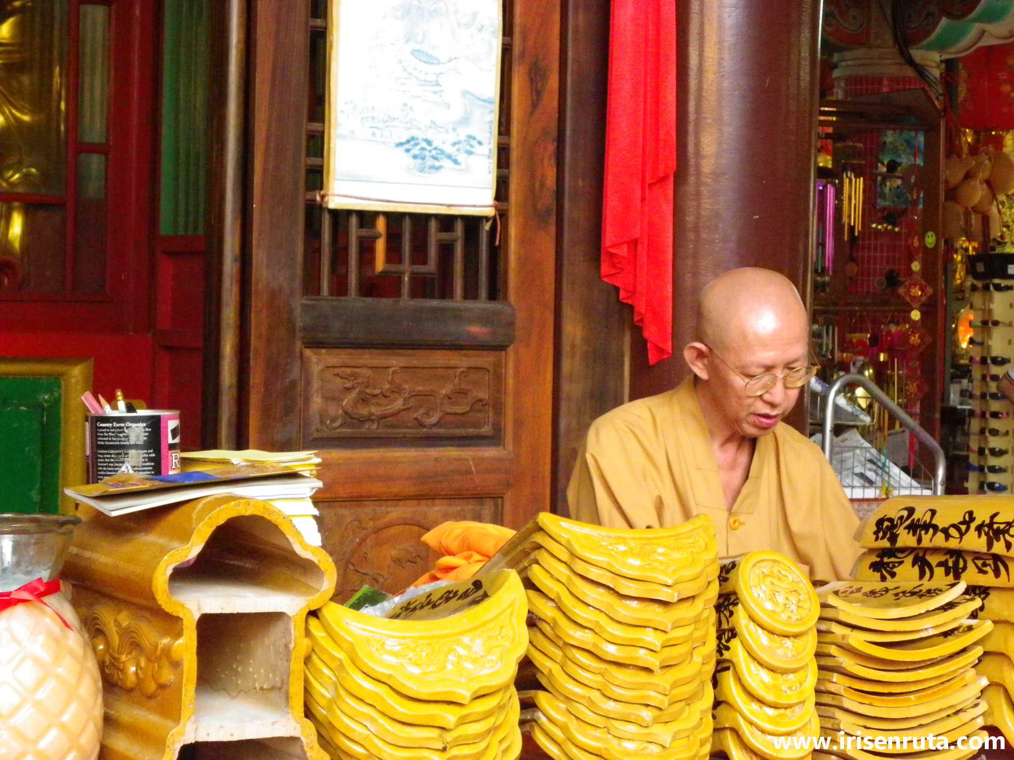 Monje budista en Kek Lok Si