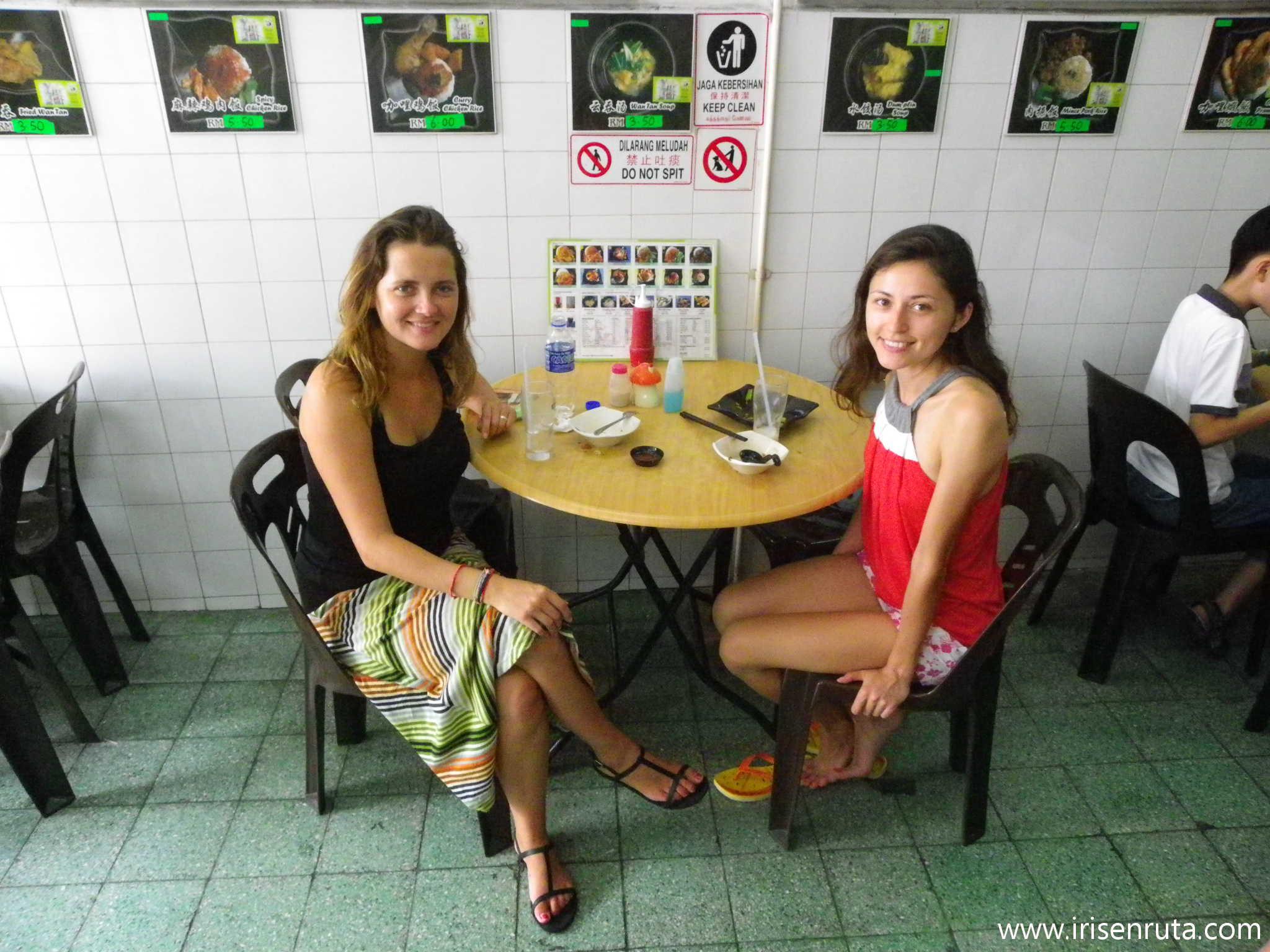 Con Yulia en un restaurante chino